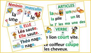 affichage des leçons d'étude de la langue CP