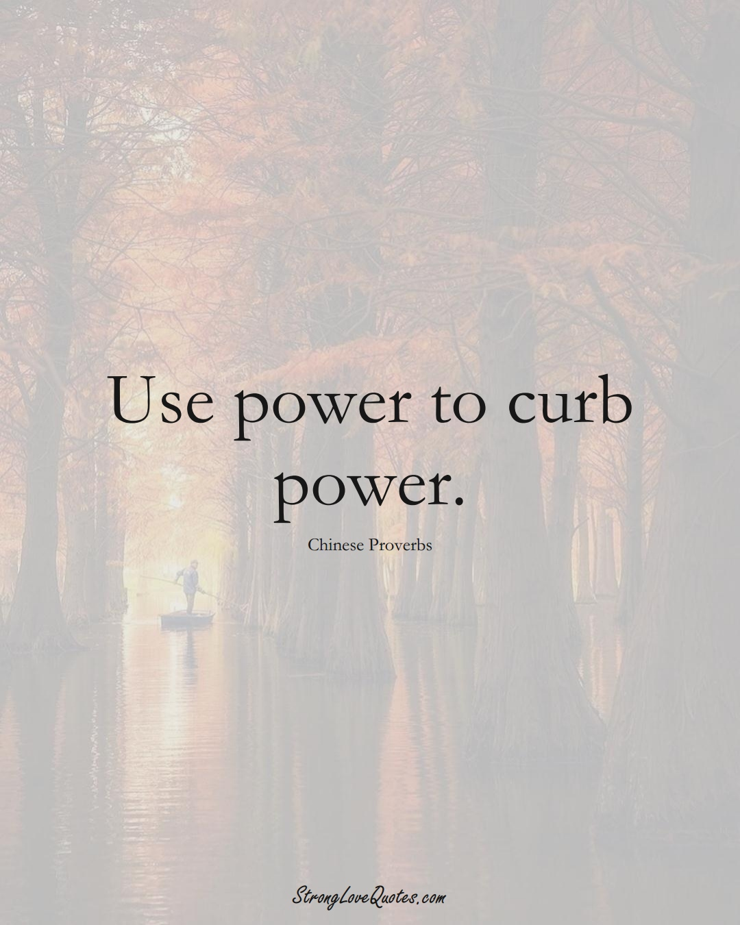 Use power to curb power. (Chinese Sayings);  #AsianSayings
