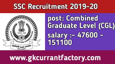 SSC combined Graduate Level Recruitment, SSC recruitment