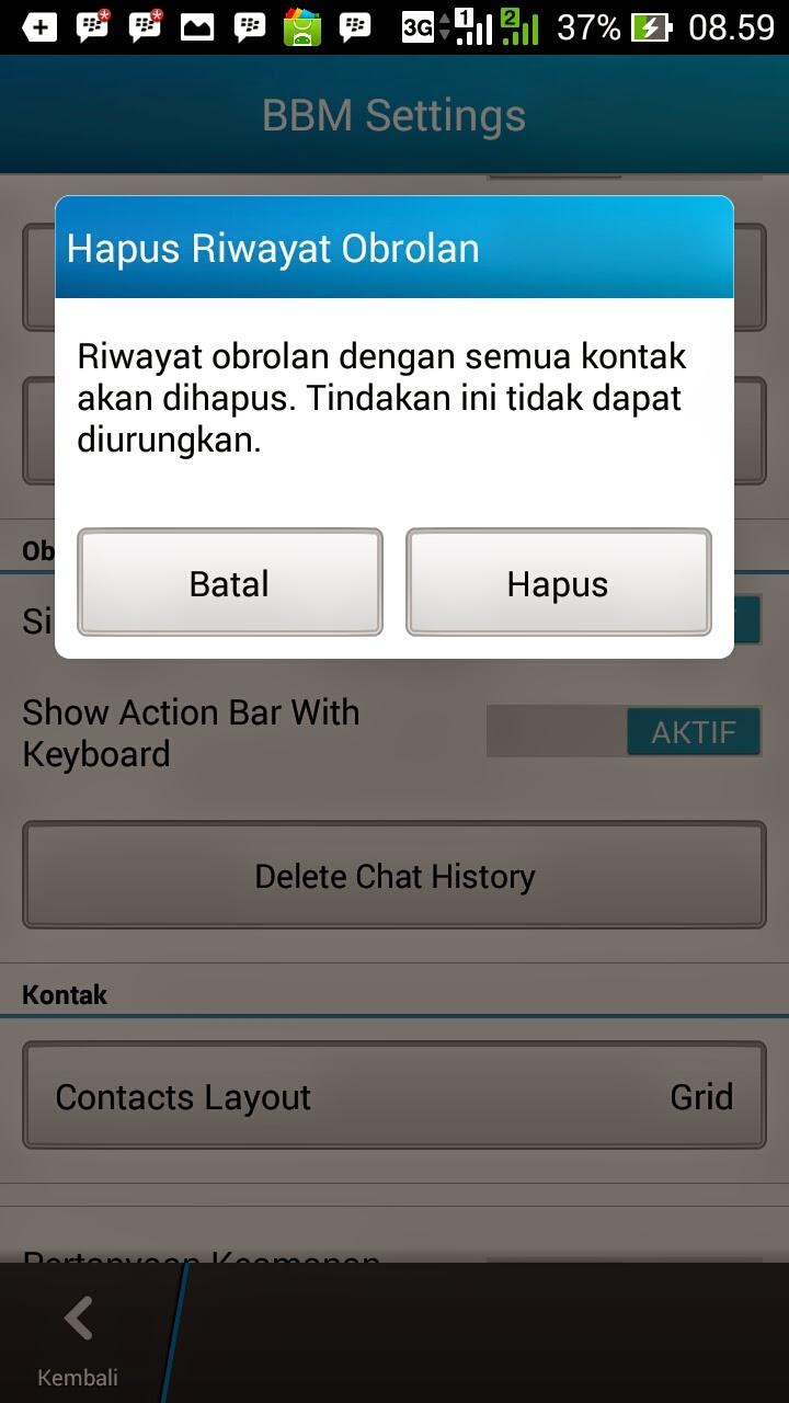 Cara Menghapus Obrolan BBM di Android