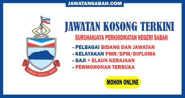 Jawatan Kosong Kerjaan Negeri Sabah Ambilan September 2020 Jawatan Kosong Sabah
