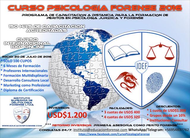 Curso Psicología Forense 2016