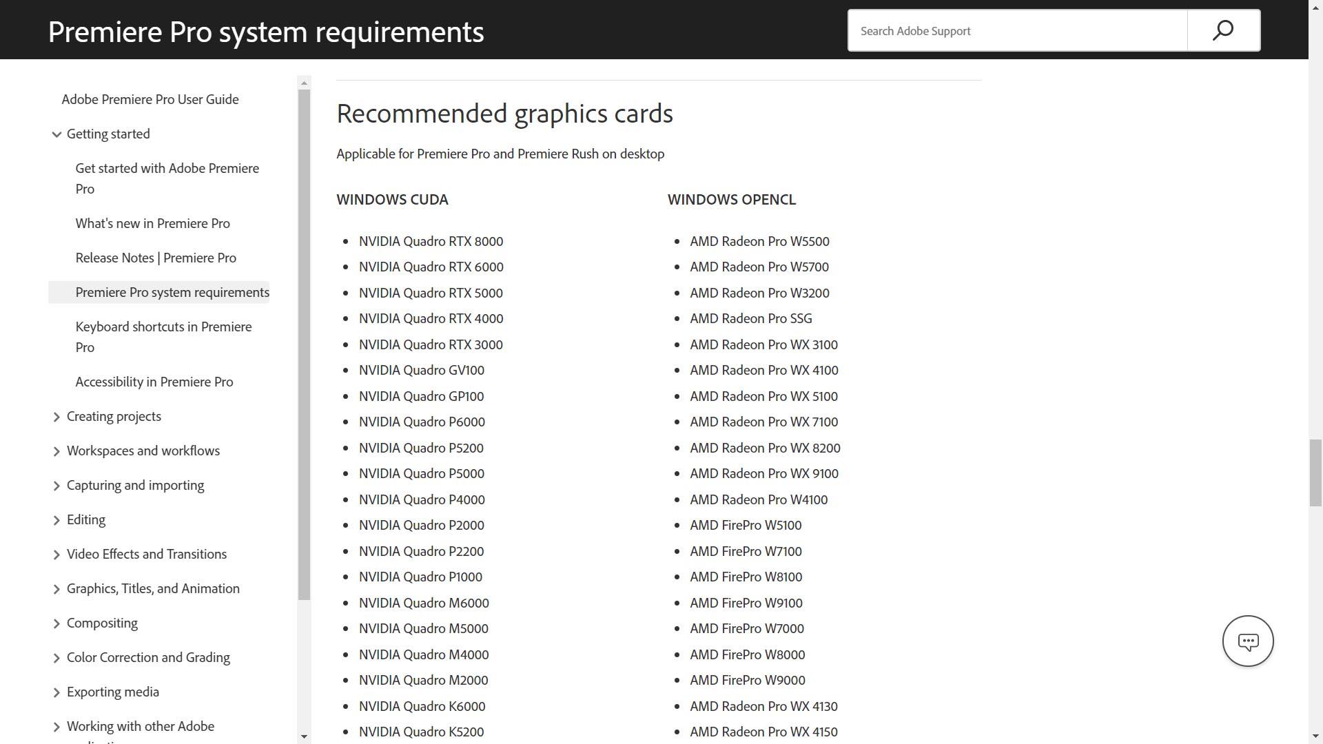 Render bằng Premiere nên chọn CUDA hay OpenCL?