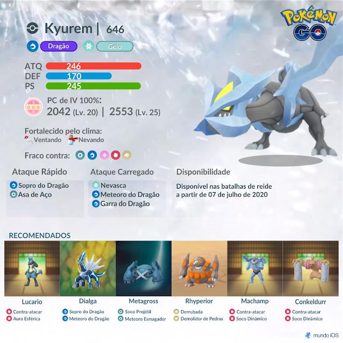 Confira o guia de batalha de reide para enfrentar Kyurem em Pokémon GO