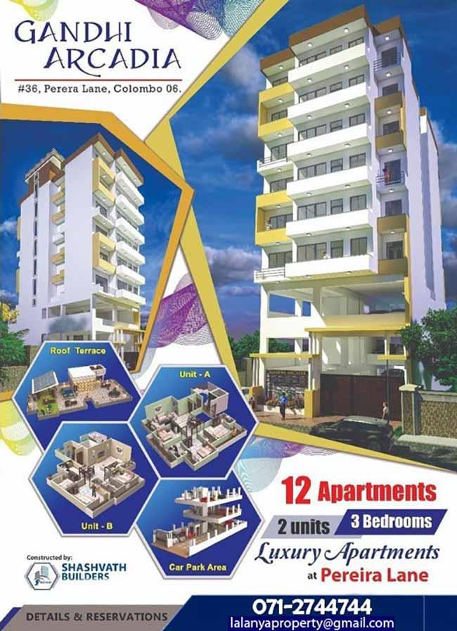 Lalanya Property - 3Bed Room Luxury Apartment In Wellawatta | Immediate Occupancy.