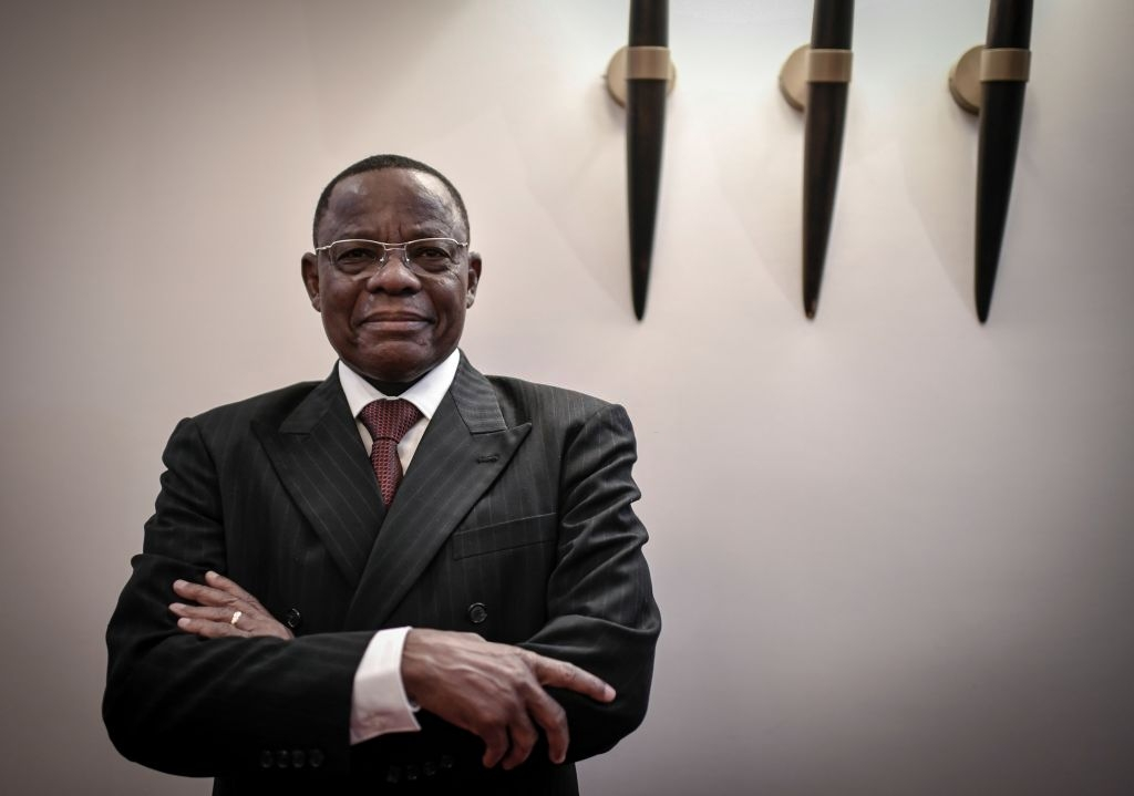 Cameroonian opposition leader of Movement for the Rebirth of Cameroon (MRC)and former presidential candidate Maurice Kamto