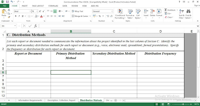 Free Project Communications Plan Template for Excel