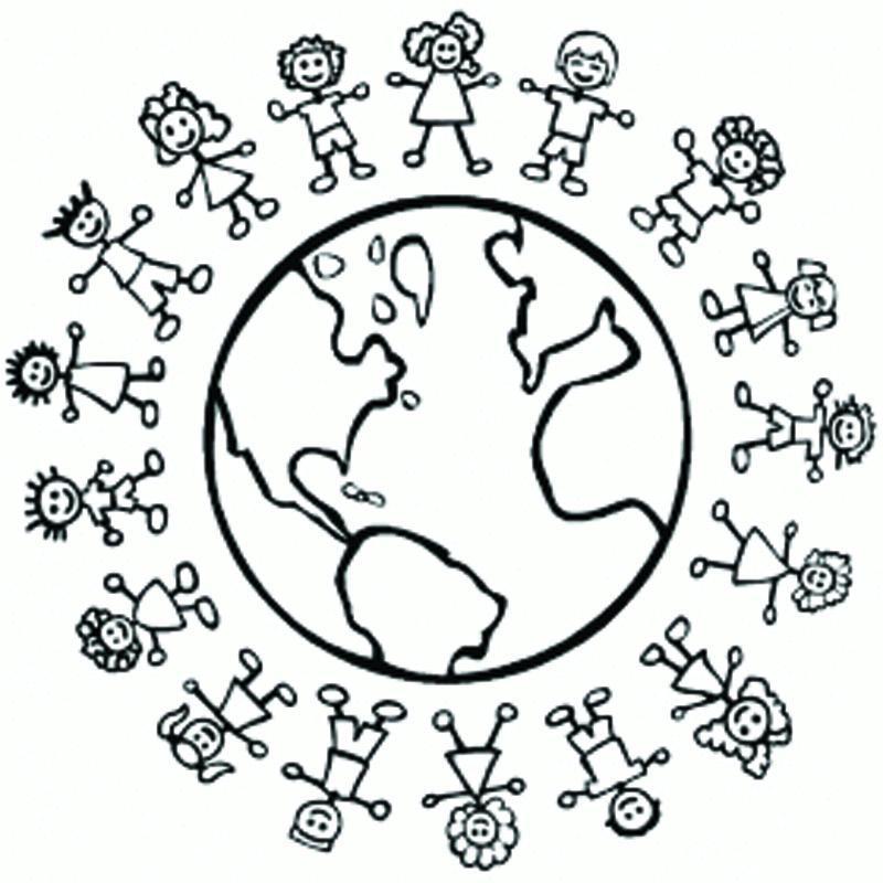 Ba da Web Desenhos Dia das Crianas para colorir