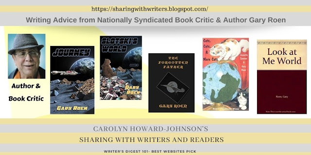 Gary Roen Syndicated Book Critic and Author Information for Writers