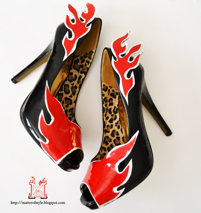 flame shoes diy, shoes diy, diy shoes, fashion diy, prada flame shoes diy, prada inspired flame shoes diy, do it yourself, cadillac shoes, jimmy choo flame shoes, topshop flame western boots,