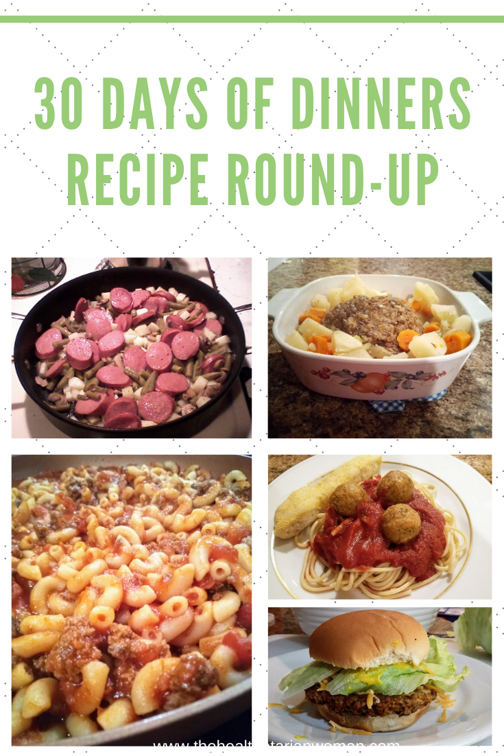 30 Days of Dinners Recipe Round-Up
