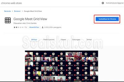 langkah 2 cara pakai ekstensi chrome google meet grid view