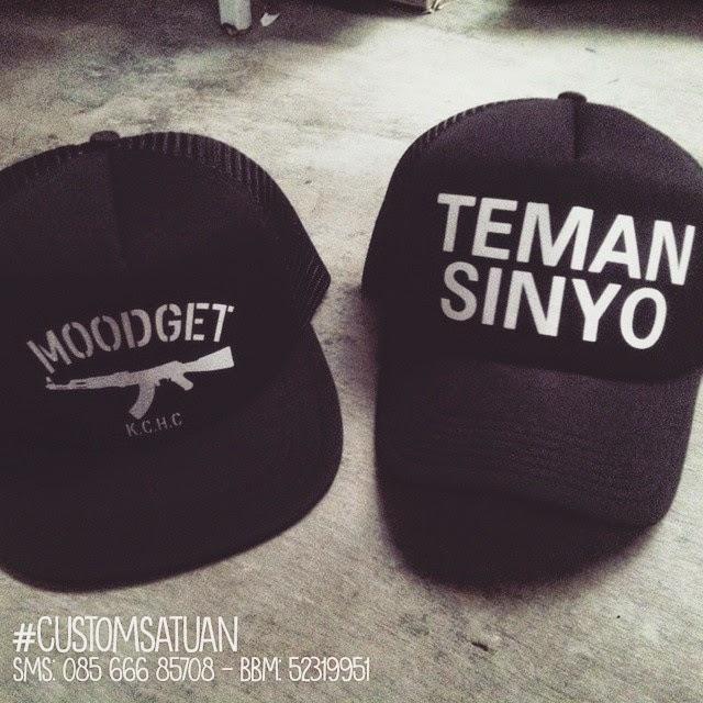 Jasa Pembuatan Topi Custom Design Bebas Satuan