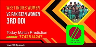 Womens ODI, Match 3rd: Pakistan Womens vs West Indies Womens Today cricket match prediction 100 sure