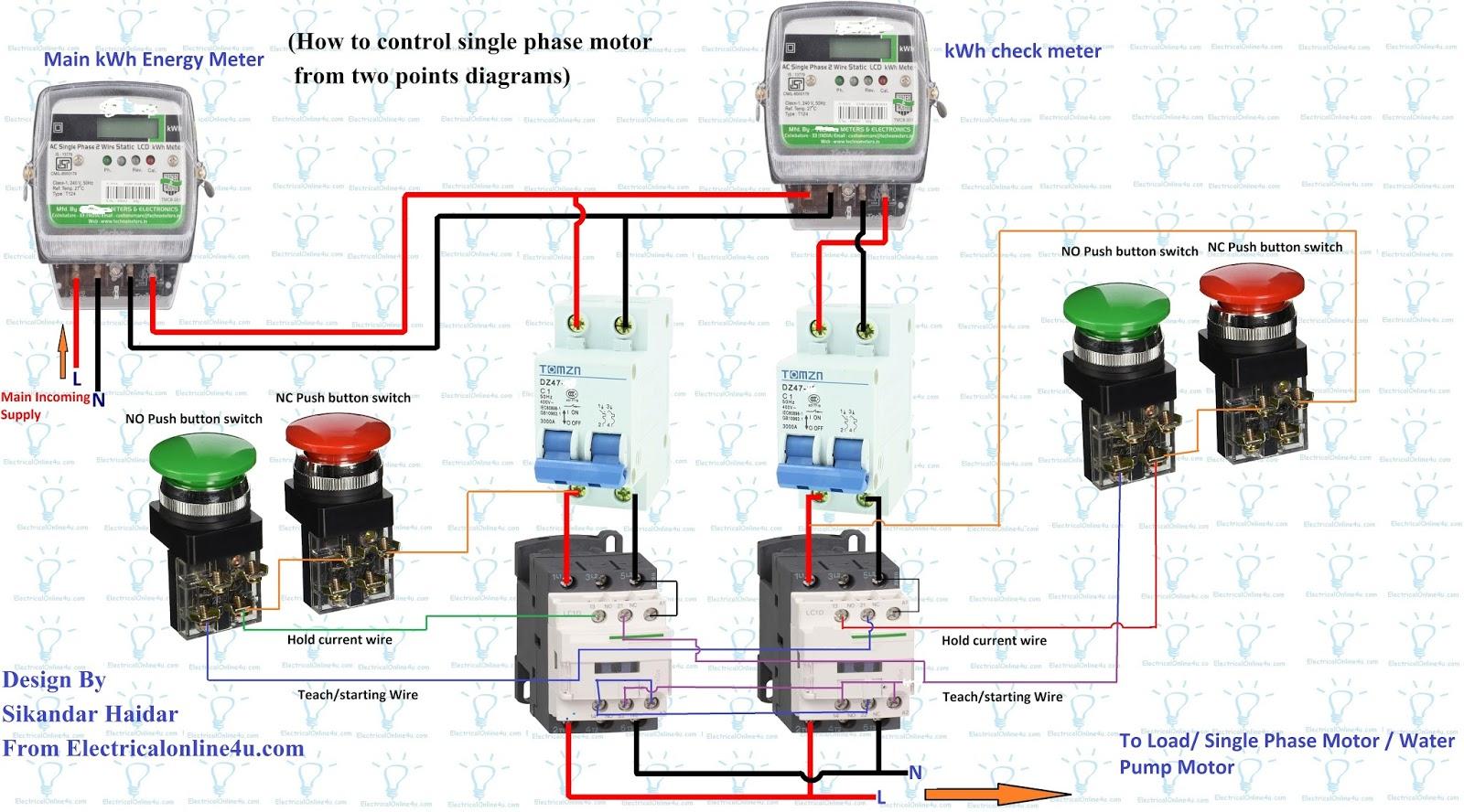 Single Phase Motor Wiring Diagram Single Phase Motor Wiring Diagrams 1