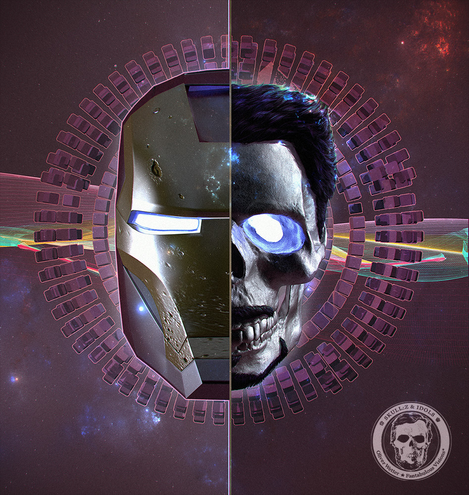 Skull portrait of Ironman
