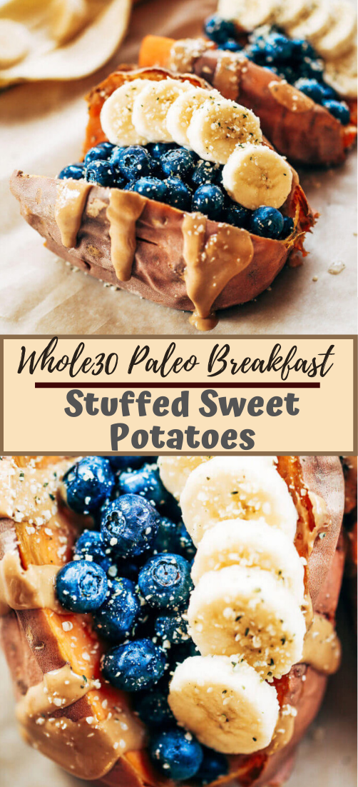 Whole30 Paleo Breakfast Stuffed Sweet Potatoes #healthyfood #dietketo #breakfast #food