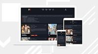 Pelacak Rilisan premium blogger template download for free