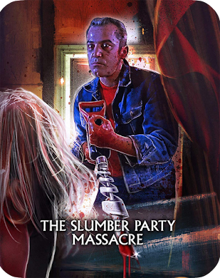 Artwork for Scream Factory's Steelbook of THE SLUMBER PARTY MASSACRE!
