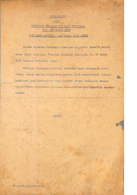 Surat Presiden Soekarno Tentang Hari Ibu - Halaman 2