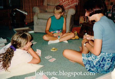 Girls playing cards http://jollettetc.blogspot.com