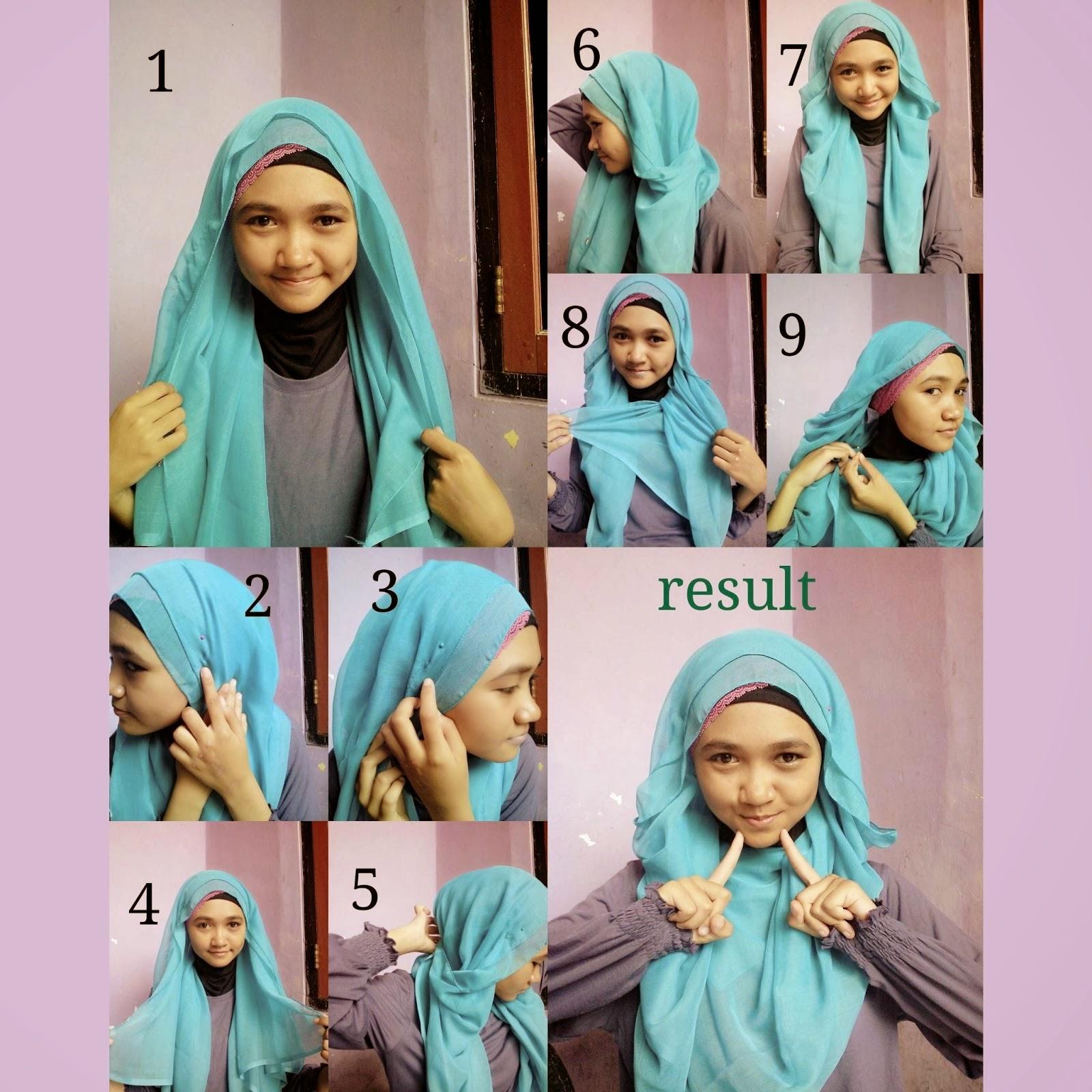 Tutorial Hijab Segi Empat Simpel Tapi Cantik Fasahijab