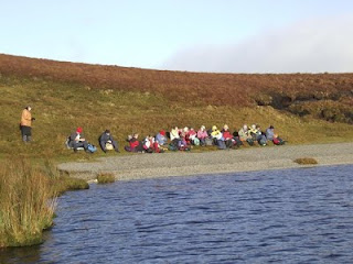 walers sitting by Iascin lake Glenade leitrim ireland