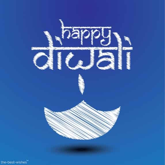 happy diwali images blue