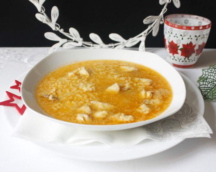Sopa de gallineta con arroz
