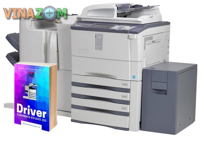 cách cài driver máy photocopy Toshiba