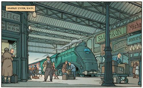 Lord Jeffrey - le train de 16h50 arrive en gare à 16h54