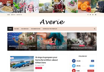 Averie Blogger Template