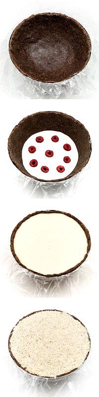 Presna šarlota - Raw cocos lime raspberry charlotte how to make it