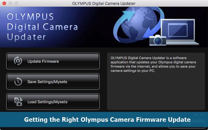 Olympus Camera Firmware Update