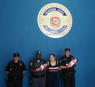 Guardas Civis Metropolitanos da sentinela do Comando Geral salvam bebê prematuro