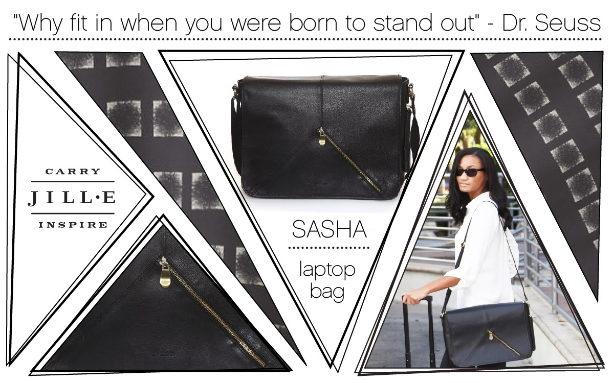 "Jill-e Designs Sasha 15"" Laptop Bag graphic"