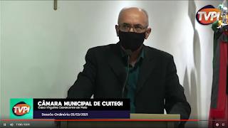 VEREADOR RAUL MEIRELES (PSDB) USAR A TRIBUNA E ANUNCIA QUE PREFEITO INICIARÁ CORTE DE TERRA NA PRÓXIMA SEGUNDA - FEIRA
