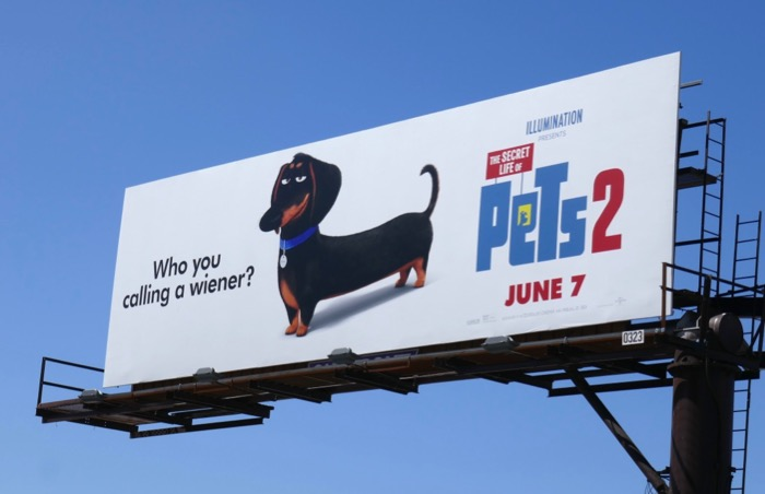 Secret Life Pets 2 wiener billboard