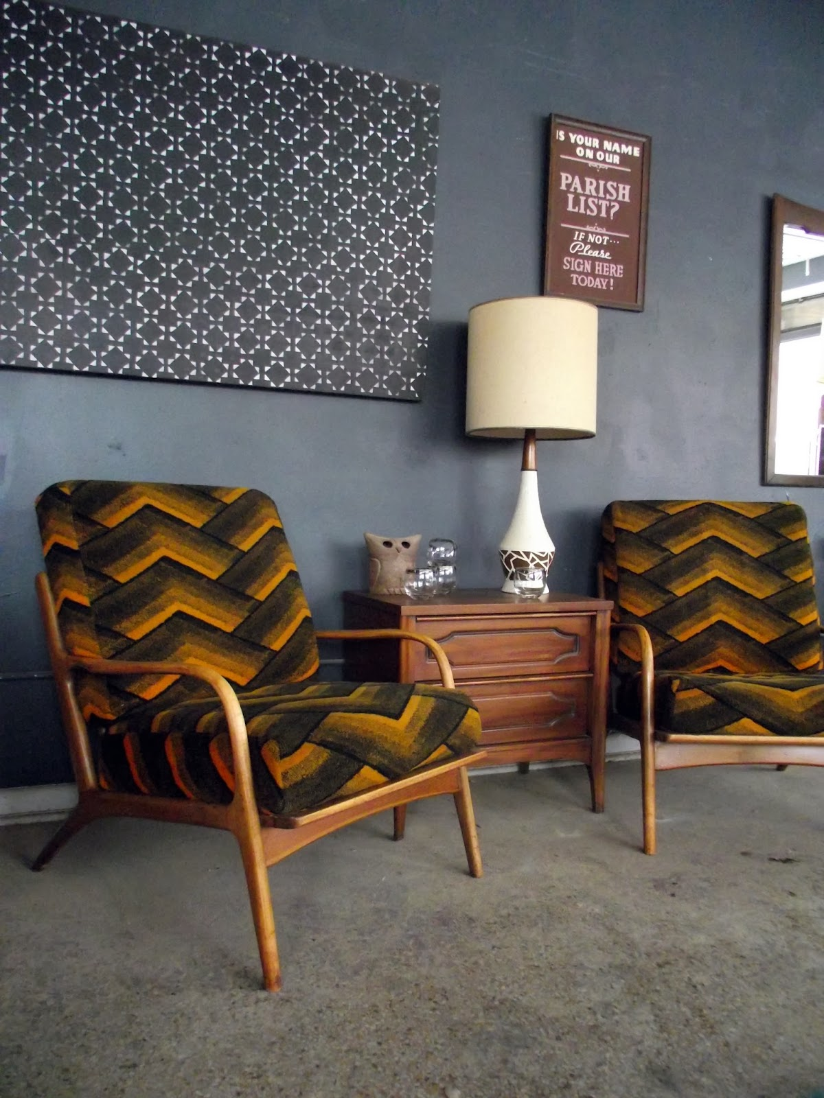 Vintage Ground: Pair of Mid Century / Danish Modern Lounge ...