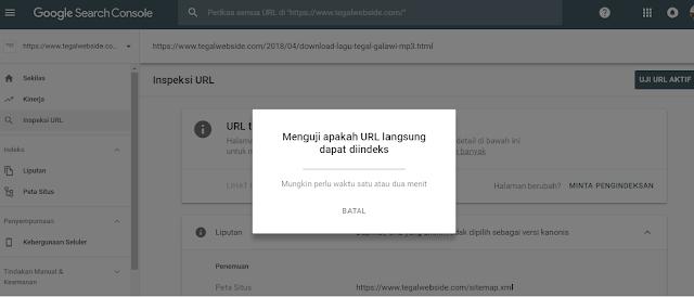 Cara Submit URL dan Sitemap blog di Search Console versi BARU