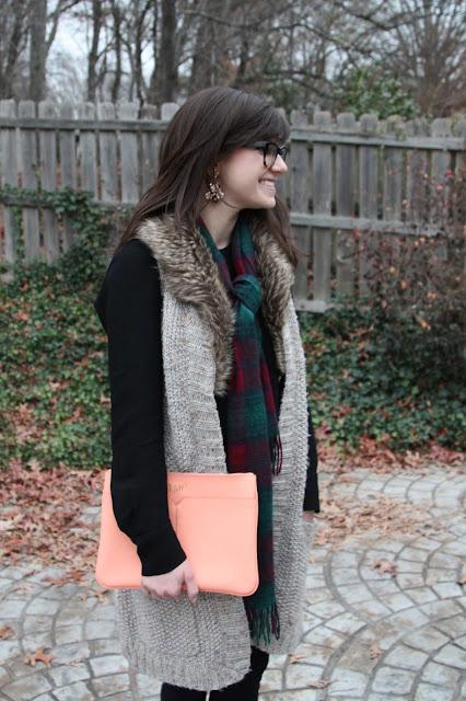 pink, fur, tartan