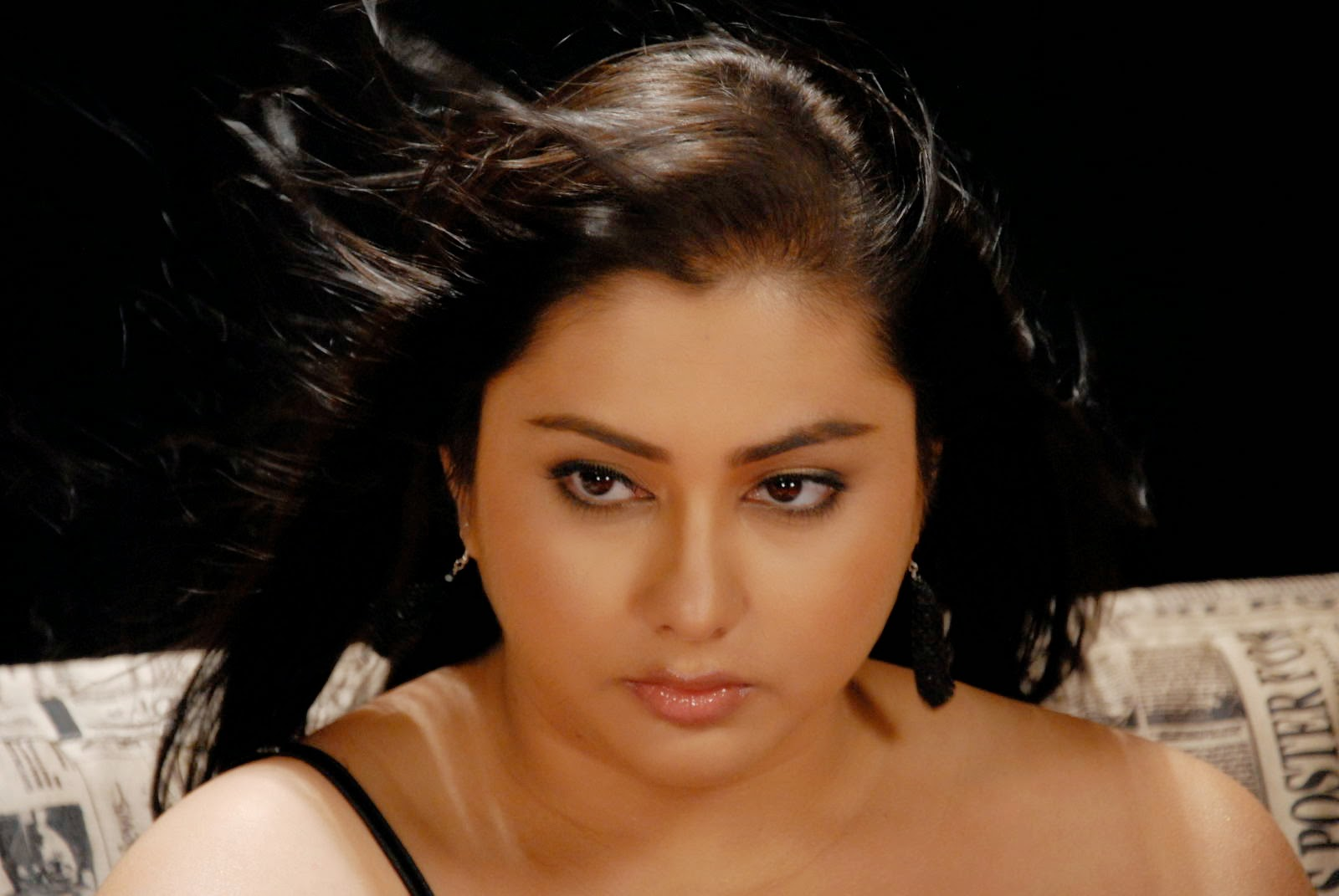 Namitha Hot Black Dress Song Making Pictures  Namitha -1265