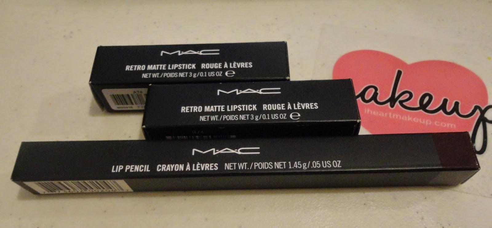 MAC Cosmetics Lipsticks & Lip Pencil