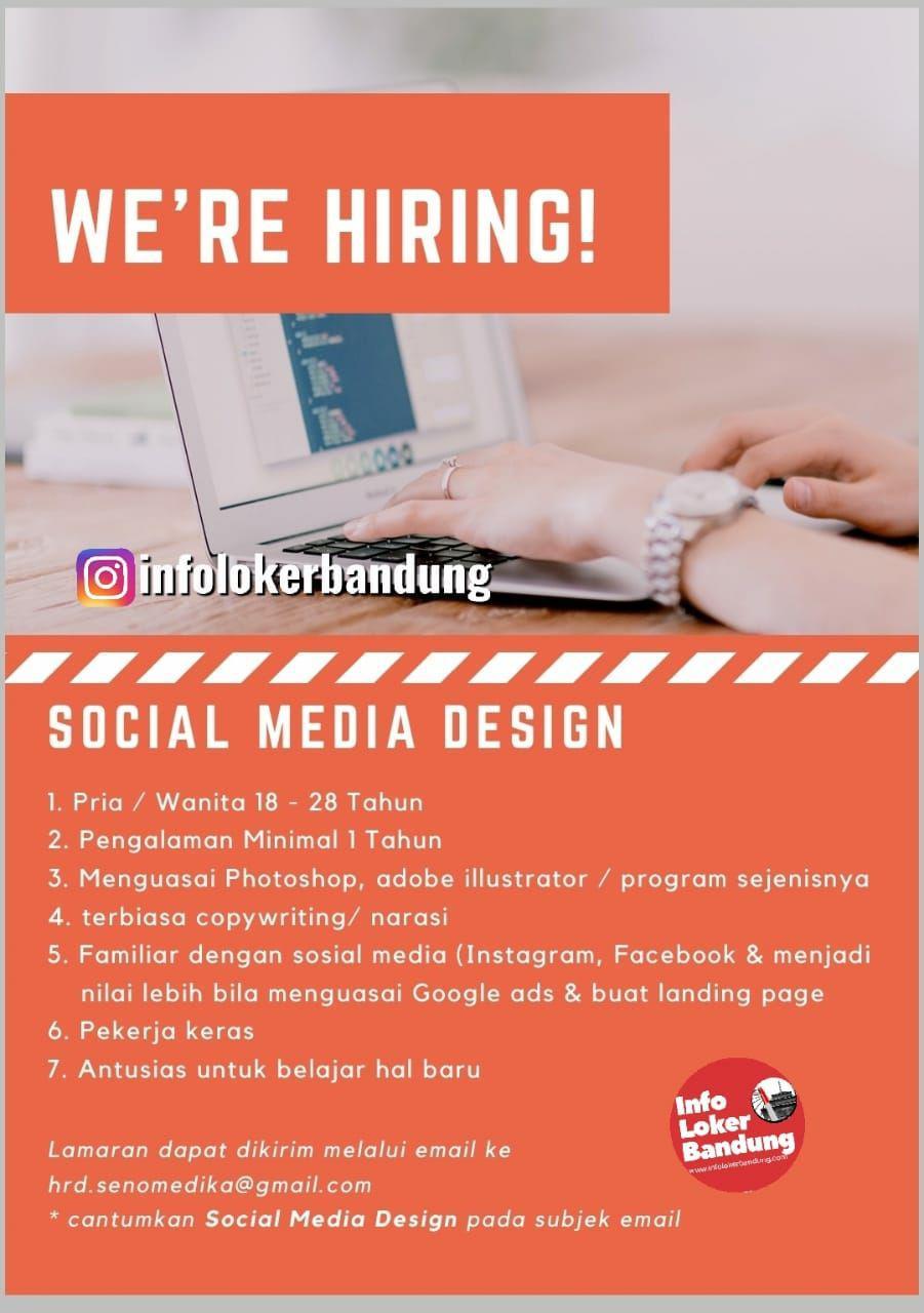Lowongan Kerja Sosial Media Design Yayasan Sono Medika Bandung Mei 2019