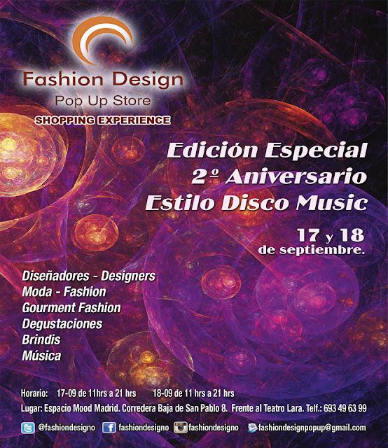 ¡Abierta Convocatoria! Fashion Desing Estilo Disco Music