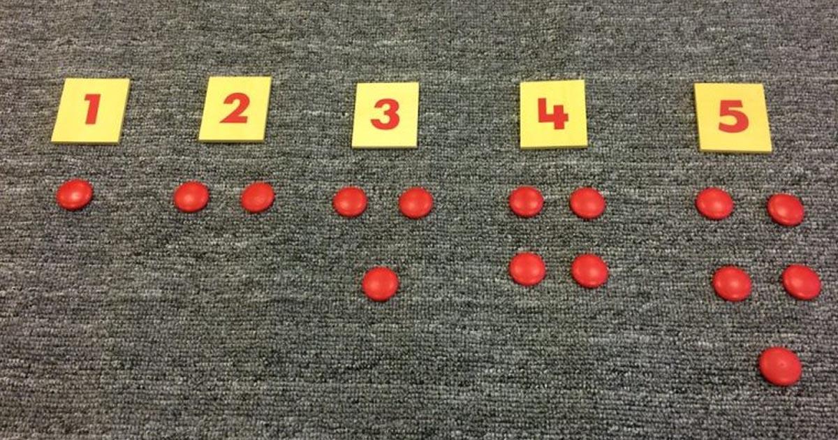 Trò chơi giúp trẻ ghi nhớ các con số