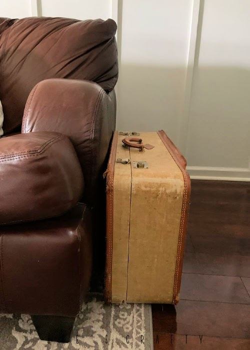 New uses for vintage goods in home decor  |  suitcases for side table and storage