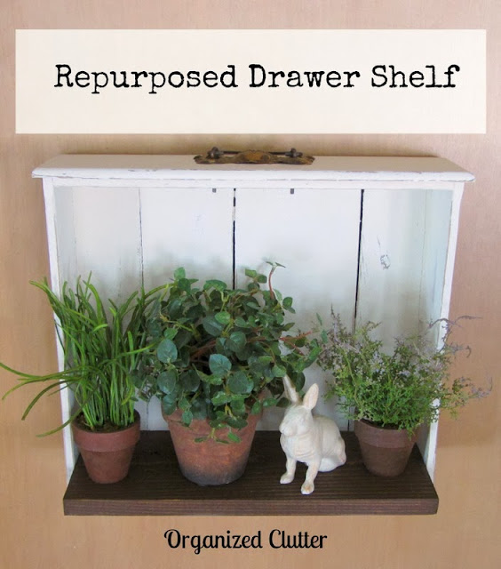 Repurposed Drawer Shelf #drawerrepurpose #upcycle #repurpose