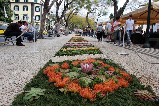 carpet of flowers at the Flower Festival