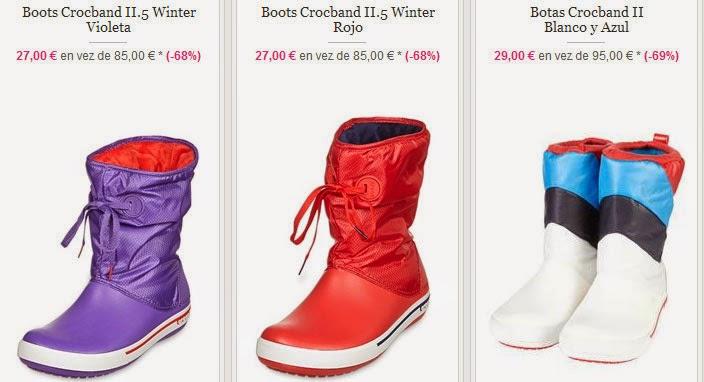 Ejemplos de botas de la marca Crocs para mujer
